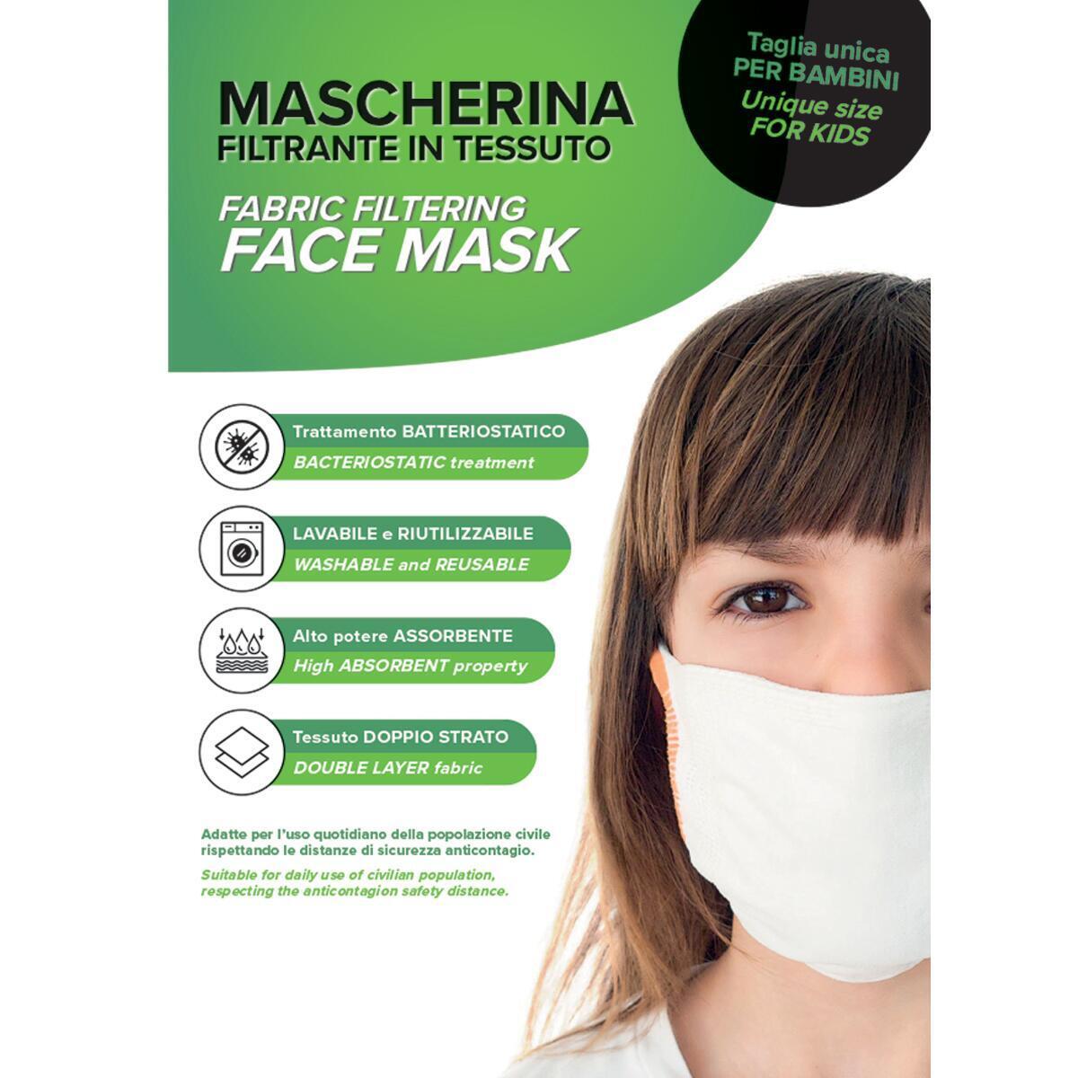 Maschera in tessuto lavabile per utilizzo non sanitario 3 pezzi - 2