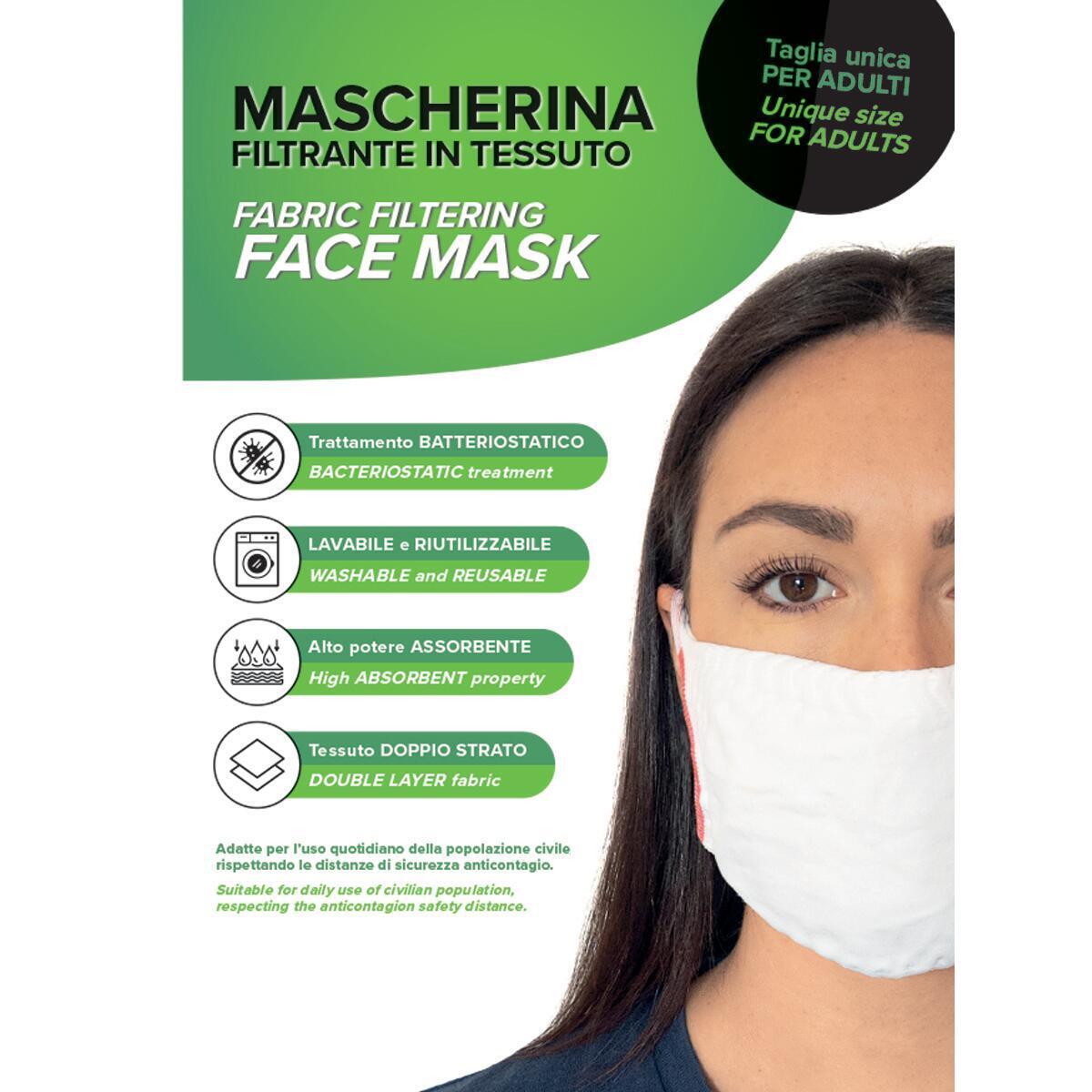 Maschera in tessuto lavabile per utilizzo non sanitario 3 pezzi - 3