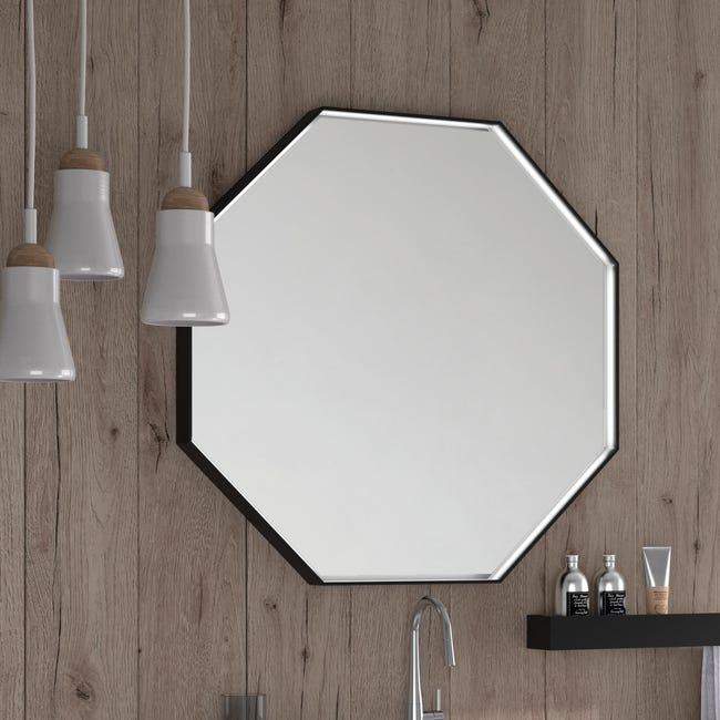 Specchio Non Luminoso Bagno Ottagonale Velvet L 80 X H 80 Cm Leroy Merlin