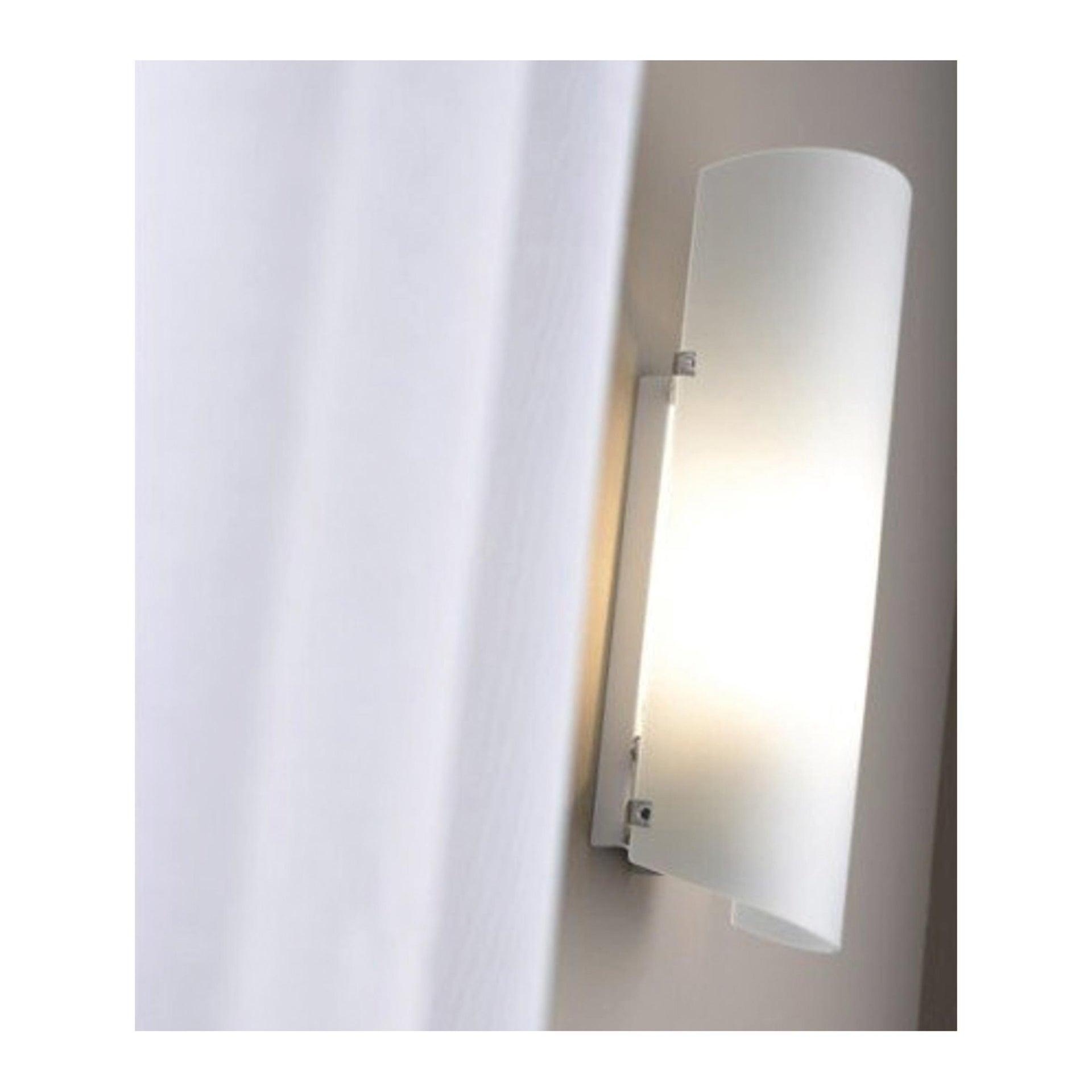 Applique classico Hanko bianco, in vetro, 26.0x10.5 cm, - 3