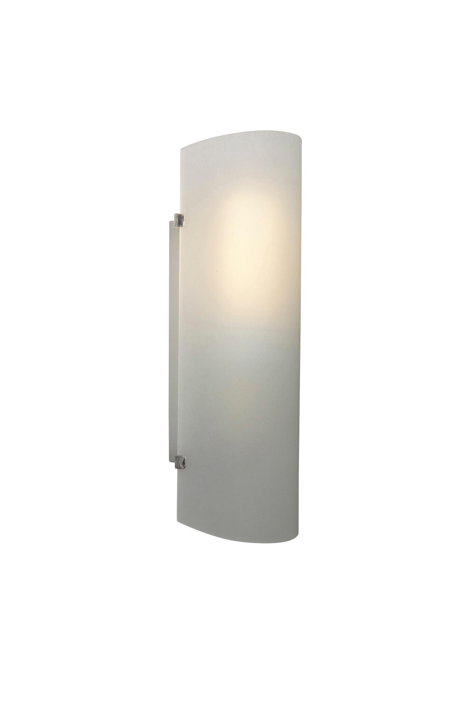 Applique classico Hanko bianco, in vetro, 26.0x10.5 cm, - 1
