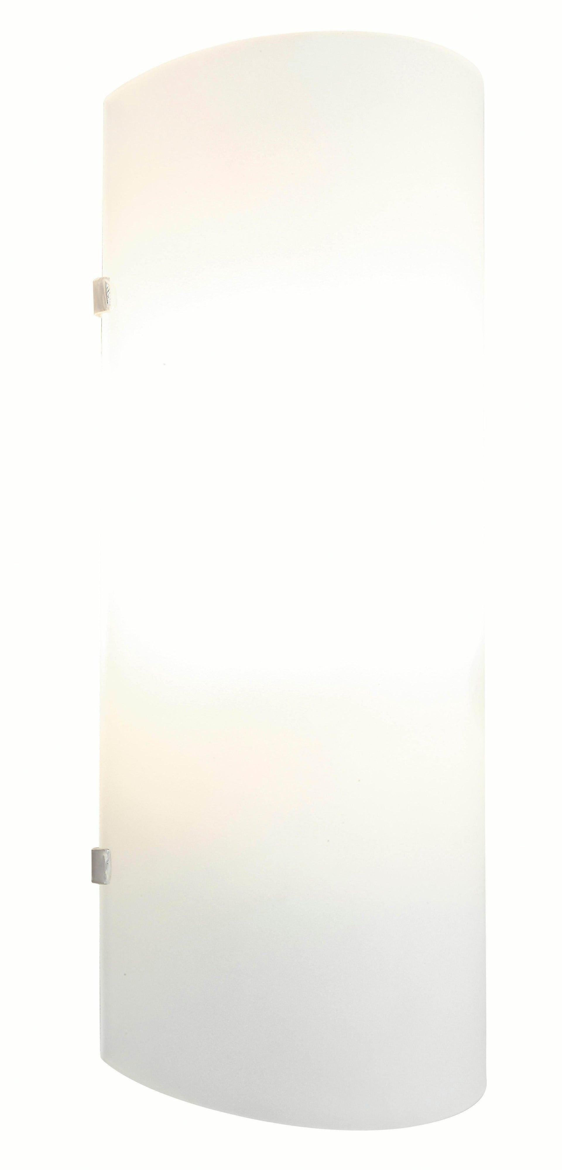 Applique classico Hanko bianco, in vetro, 26.0x10.5 cm, - 4