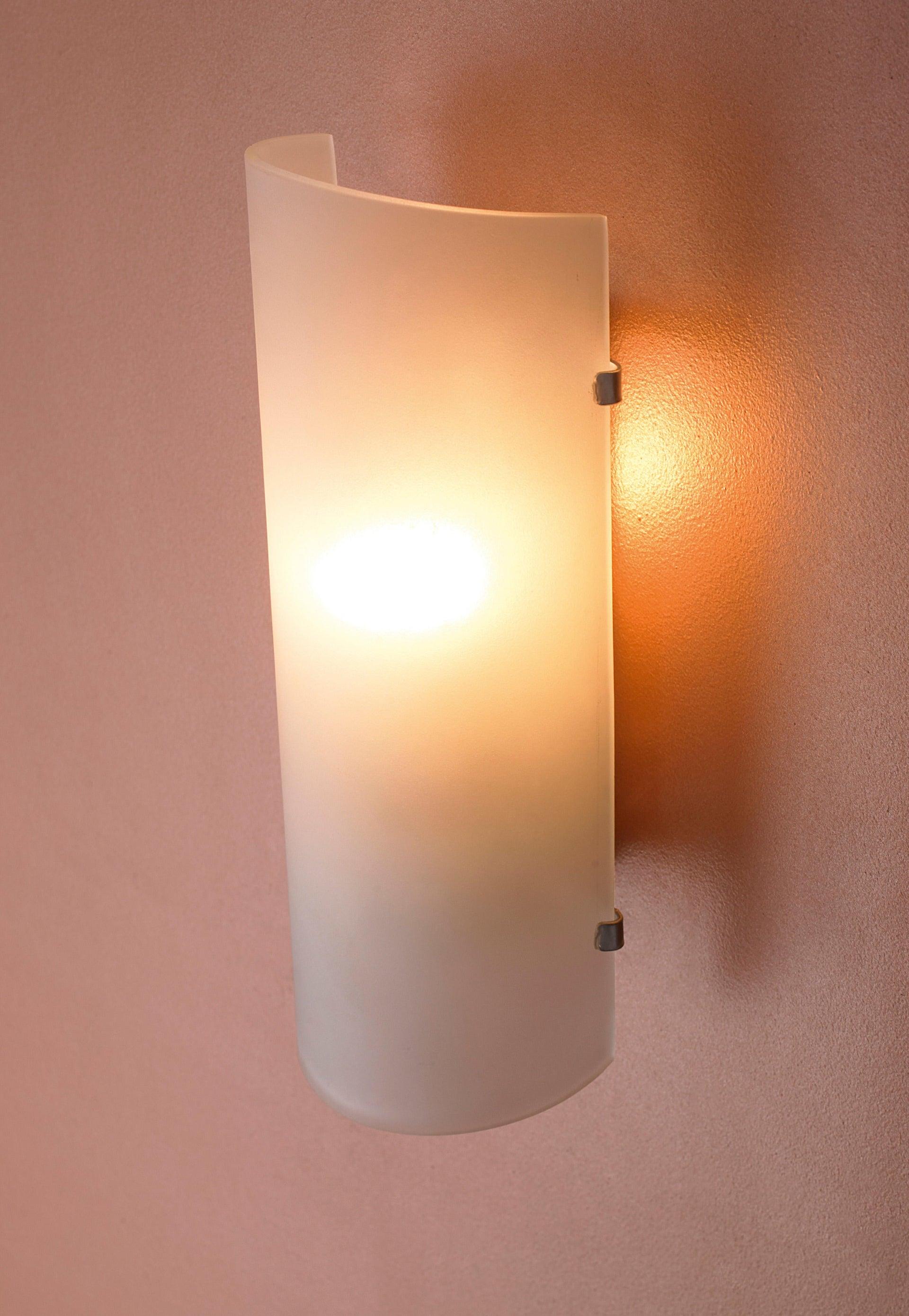 Applique classico Hanko bianco, in vetro, 26.0x10.5 cm, - 5