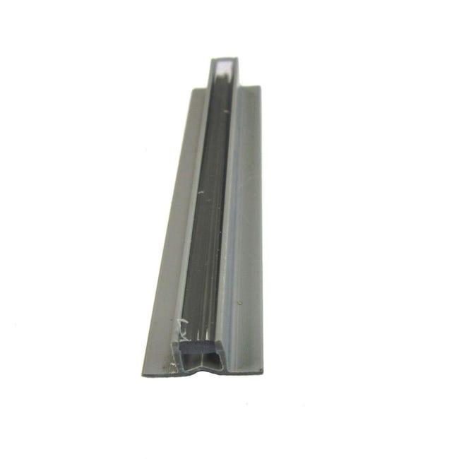 Giunto di dilatazione e frazionamento in pvc Sp 8 mm L 250 cm grigio scuro - 1
