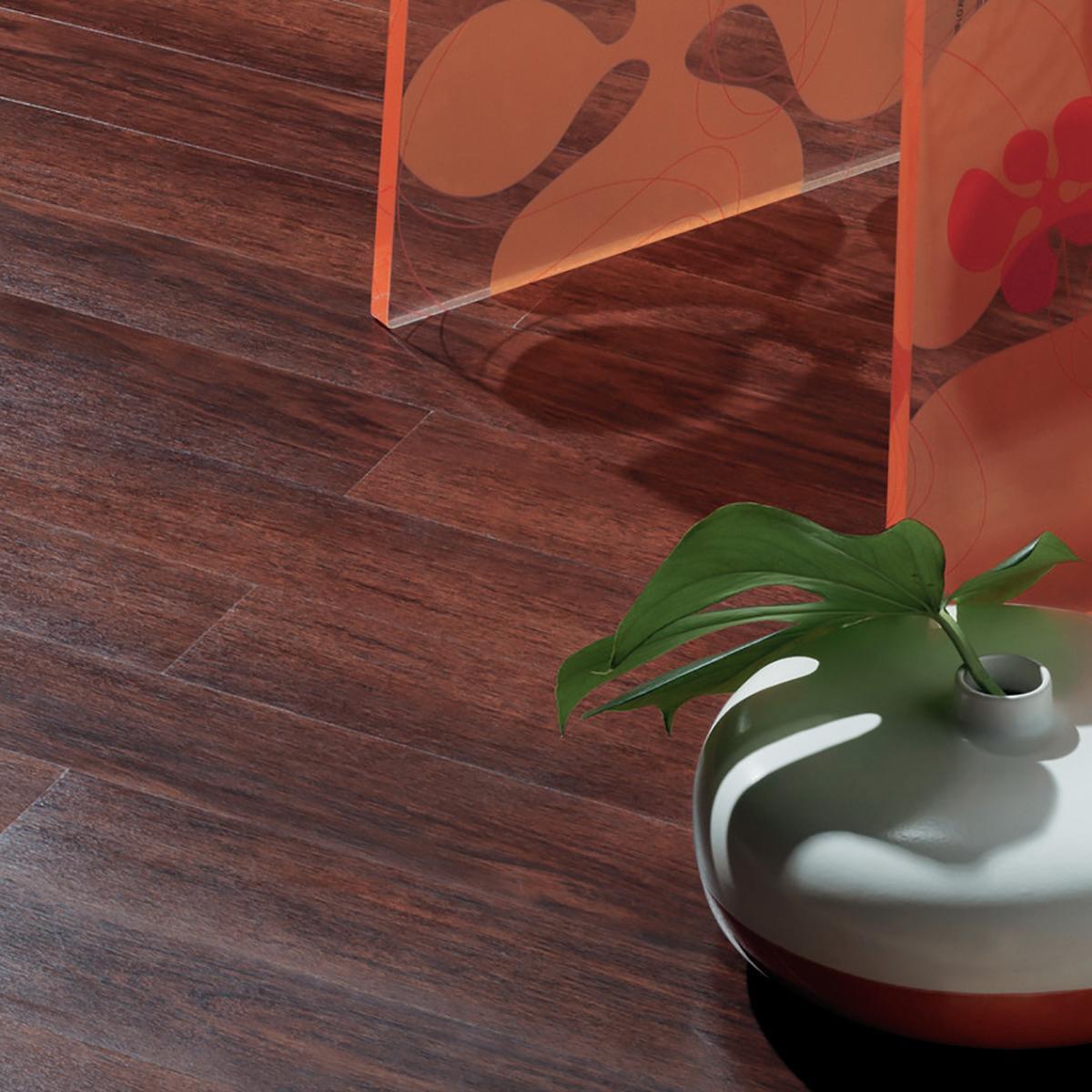 Pavimento PVC adesivo Merbau Sp 2 mm rosso - 1
