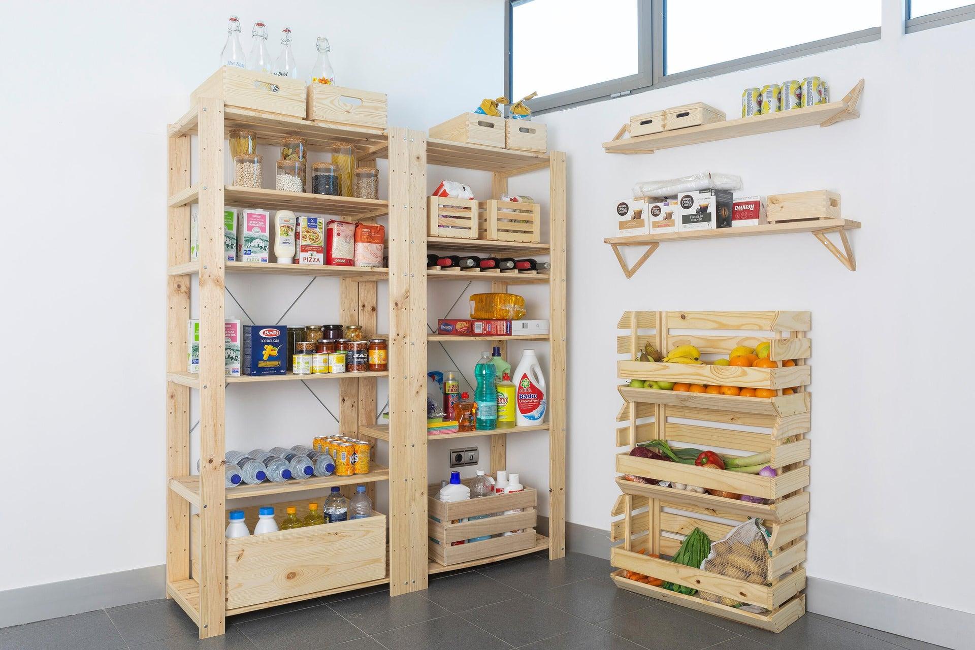 Scaffale in legno in kit Evolution L 76.7 x P 43 x H 111 cm naturale - 7