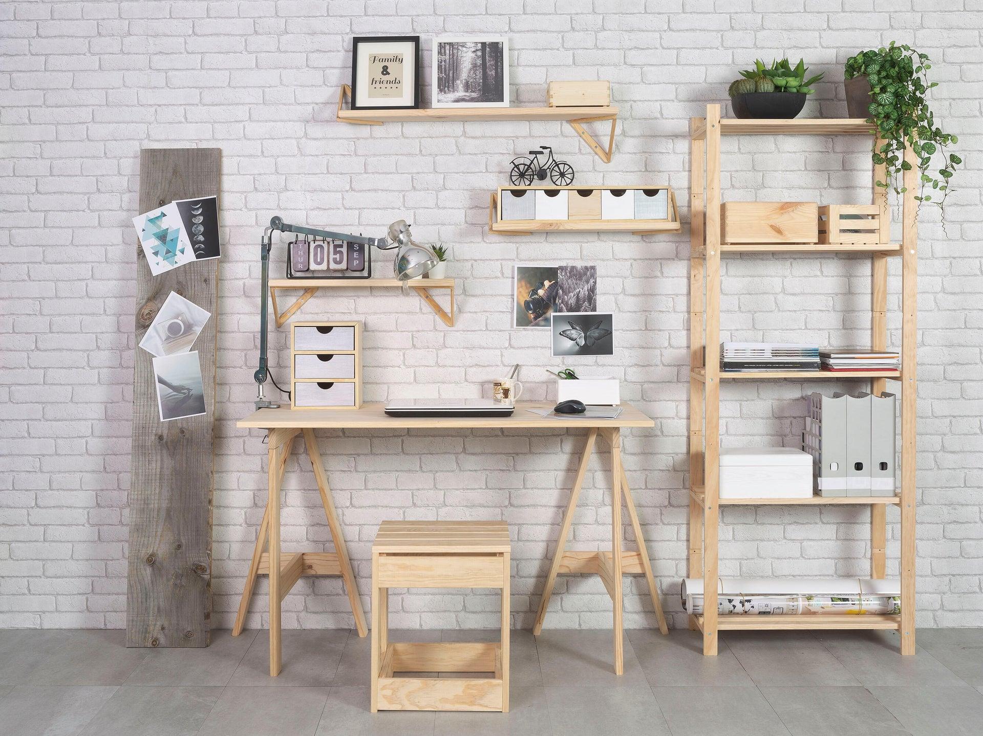 Scaffale in legno in kit L 65 x P 40 x H 171 cm naturale - 2
