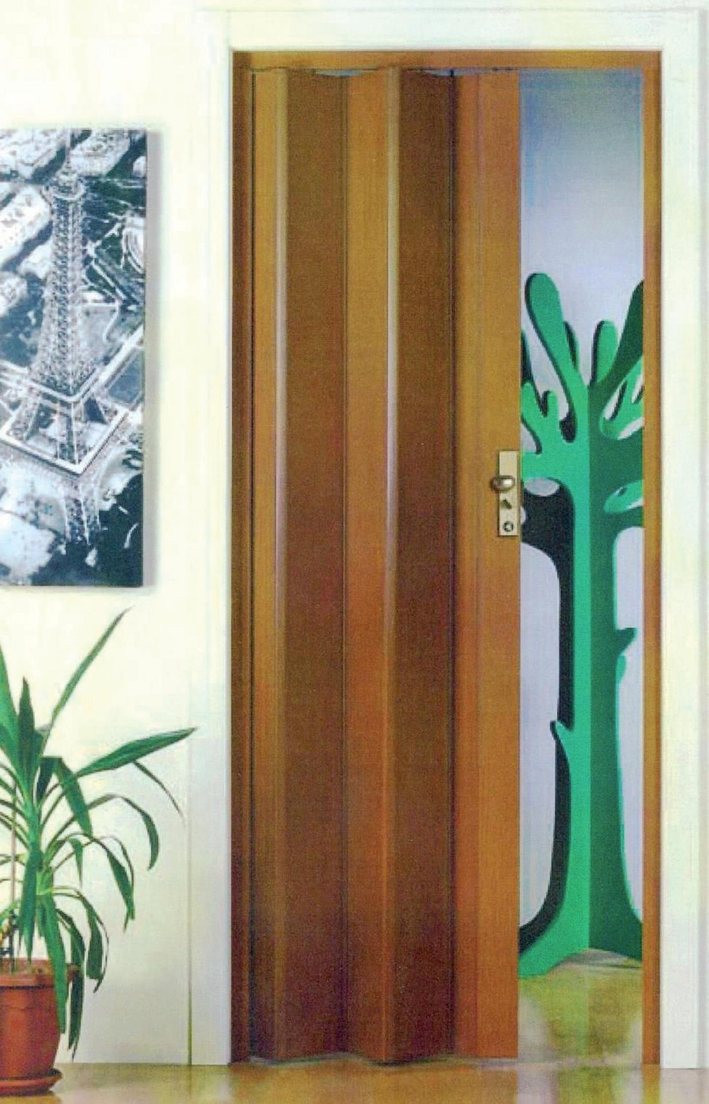 Porta a soffietto Maya in pvc marrone L 83 x H 214 cm - 1