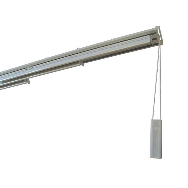 Binario per pannello giapponese singolo 5 vie Alu alluminio 280 cm bianco - 1