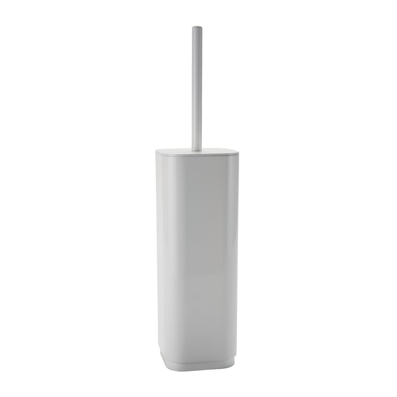 Porta scopino wc da appoggio Seventy in plastica bianco