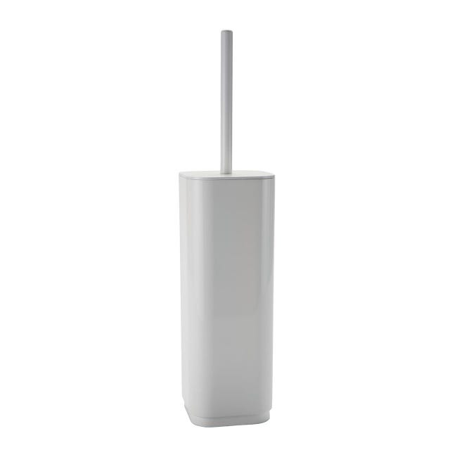 Porta scopino wc da appoggio Seventy in plastica bianco - 1