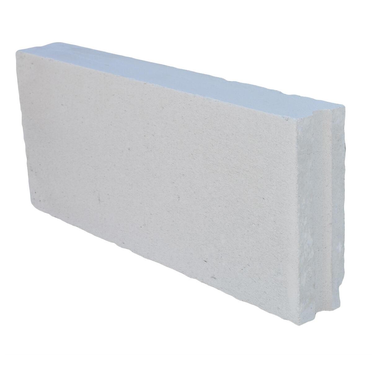 Blocco in calcestruzzo cellulare 62.5 cm, Sp 5 cm, bianco