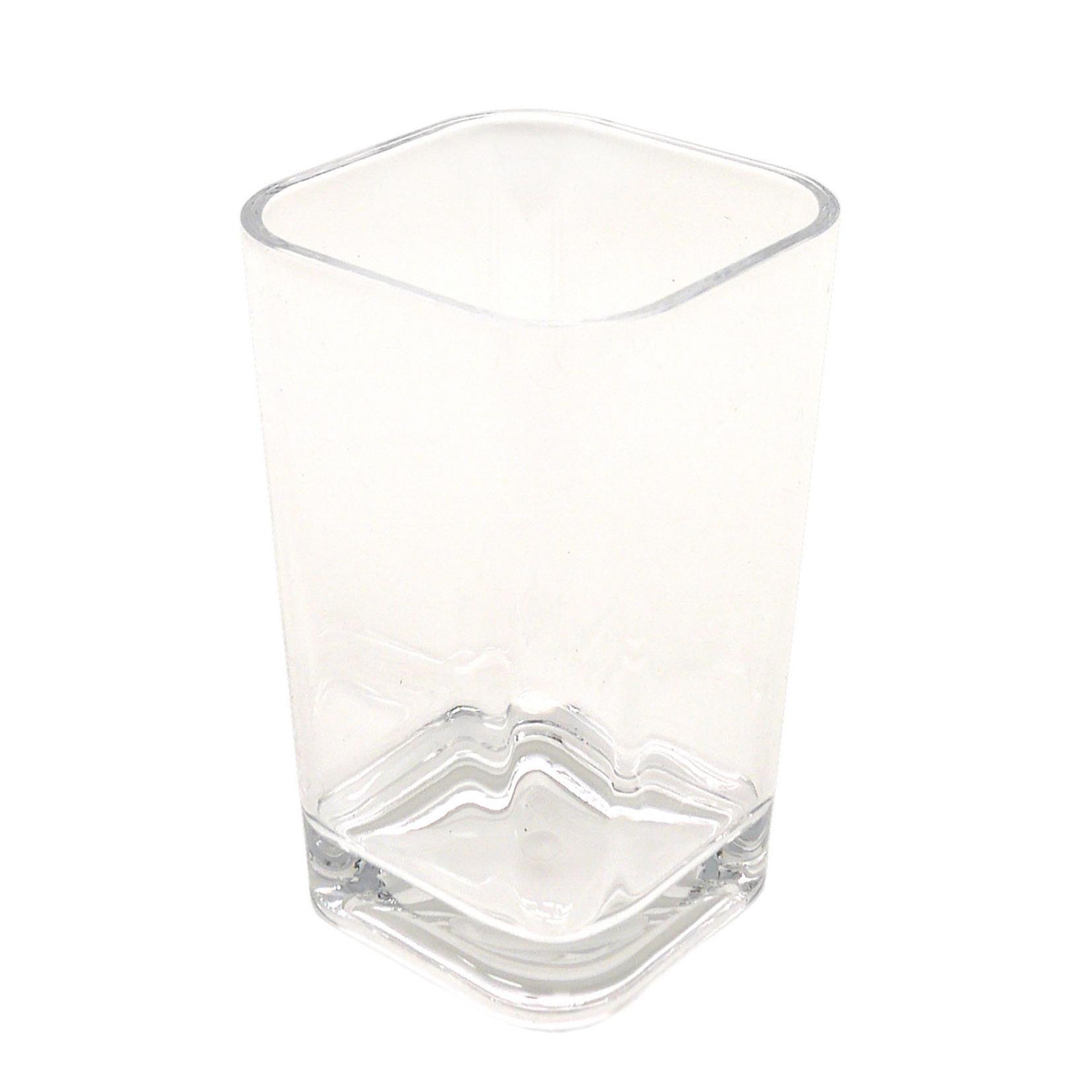 Bicchiere porta spazzolini Claire in acrilico trasparente - 1