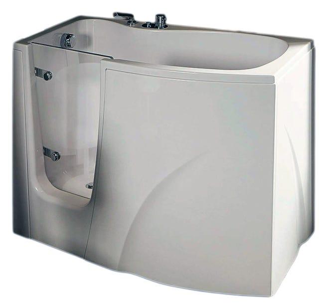 Vasca Rettangolare Dieffe Per Anziani Bianco 70 X 120 Cm Leroy Merlin