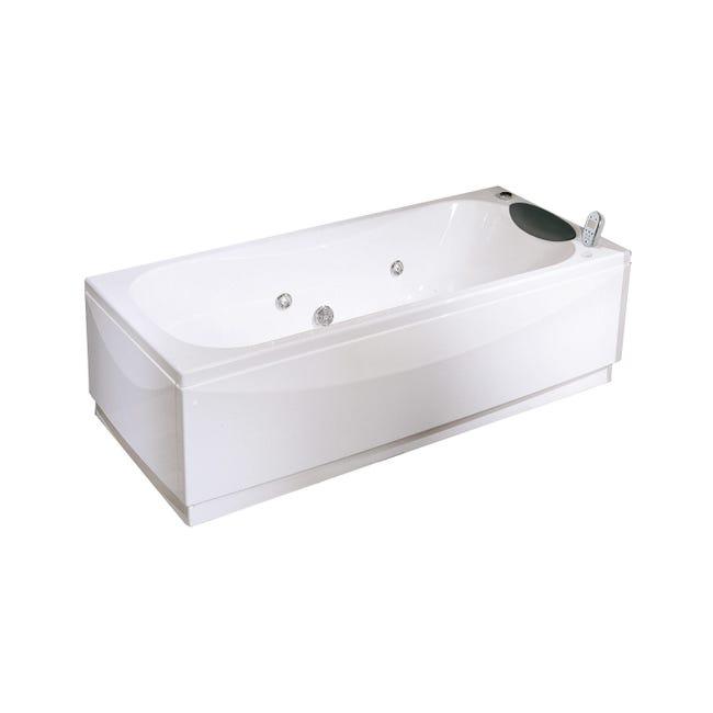 Vasca idromassaggio rettangolare Egeria,bianco ,150, 70 cm, 18 bocchette, - 1