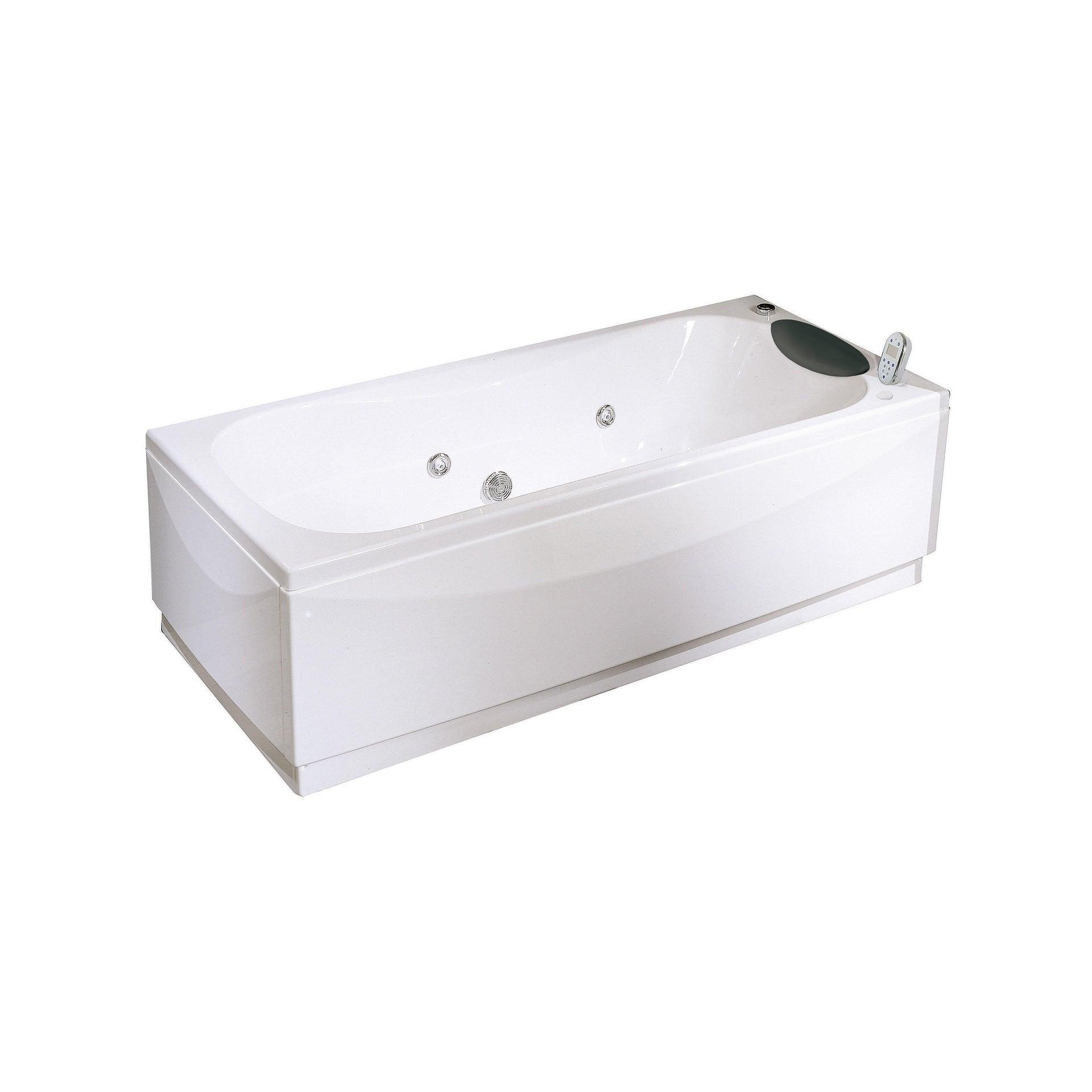 Vasca idromassaggio rettangolare Egeria,bianco ,170, 70 cm, 18 bocchette, - 1