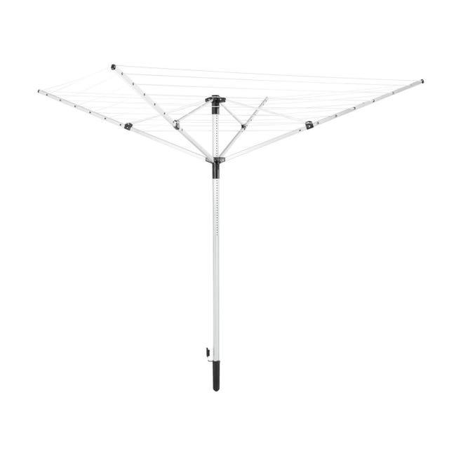 Stendibiancheria LEIFHEIT LinoPush 400 a ombrello in alluminio L 203 cm grigio / argento - 1