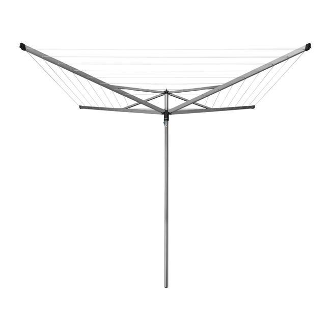 Stendibiancheria da esterno ad ombrello Essential in alluminio L 189 cm grigio / argento - 1