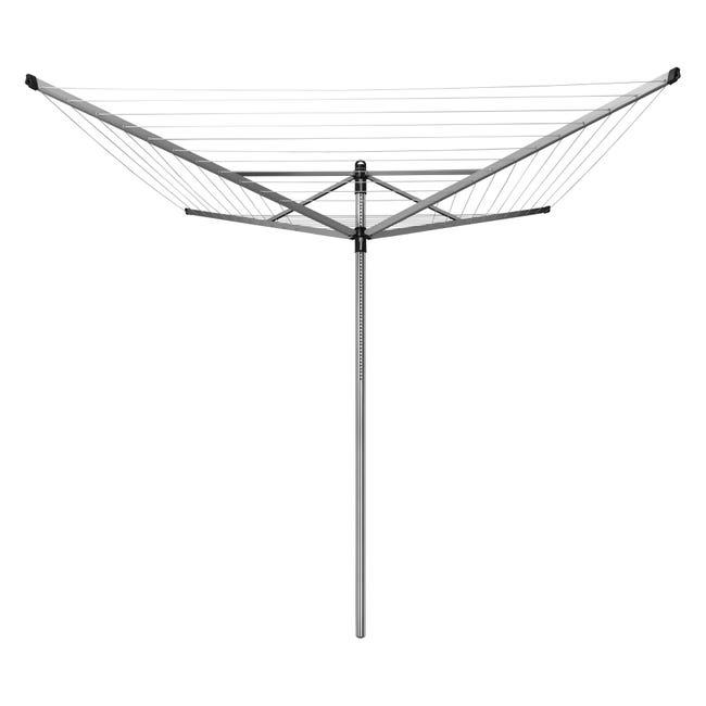 Stendibiancheria da esterno ad ombrello in alluminio L 189 cm grigio / argento - 1