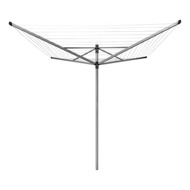 Stendibiancheria da esterno ad ombrello BRABANTIA in alluminio L 189 cm grigio / argento - 1
