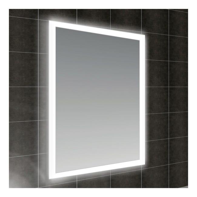 Specchio Con Illuminazione Integrata Bagno Rettangolare Fog L 60 X H 80 Cm Leroy Merlin