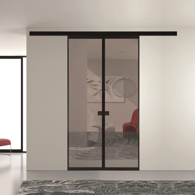 Ante scorrevoli Melbourne in vetro, L 120 x H 270 cm - 1