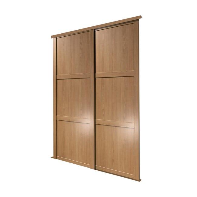 Ante scorrevoli Memphis in legno, L 120 x H 270 cm - 1