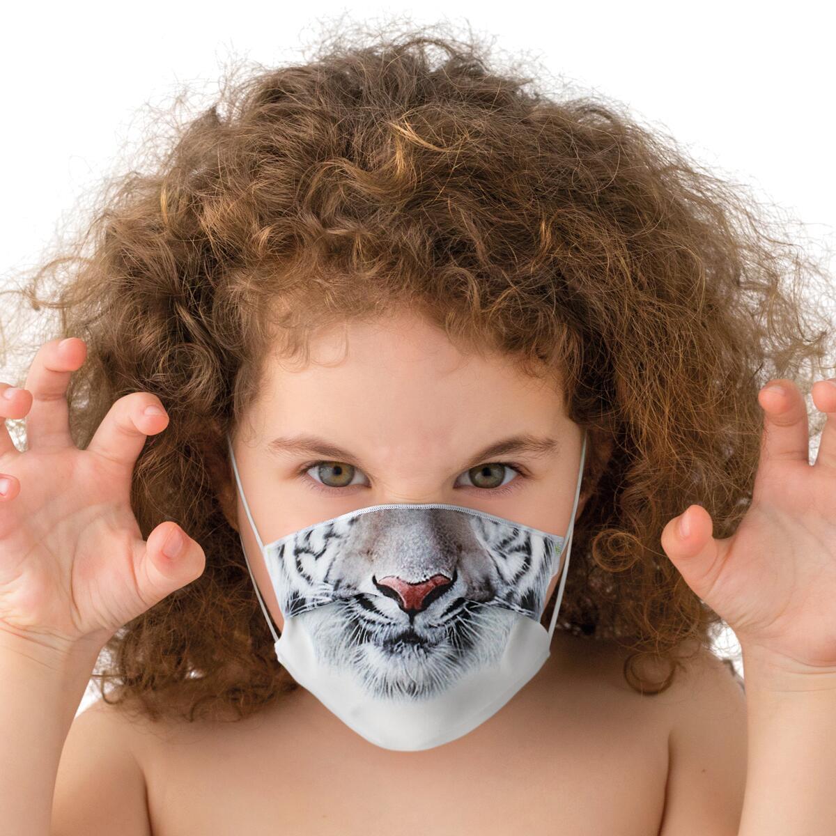 Maschera in tessuto lavabile per utilizzo non sanitario Baby tigre - 2