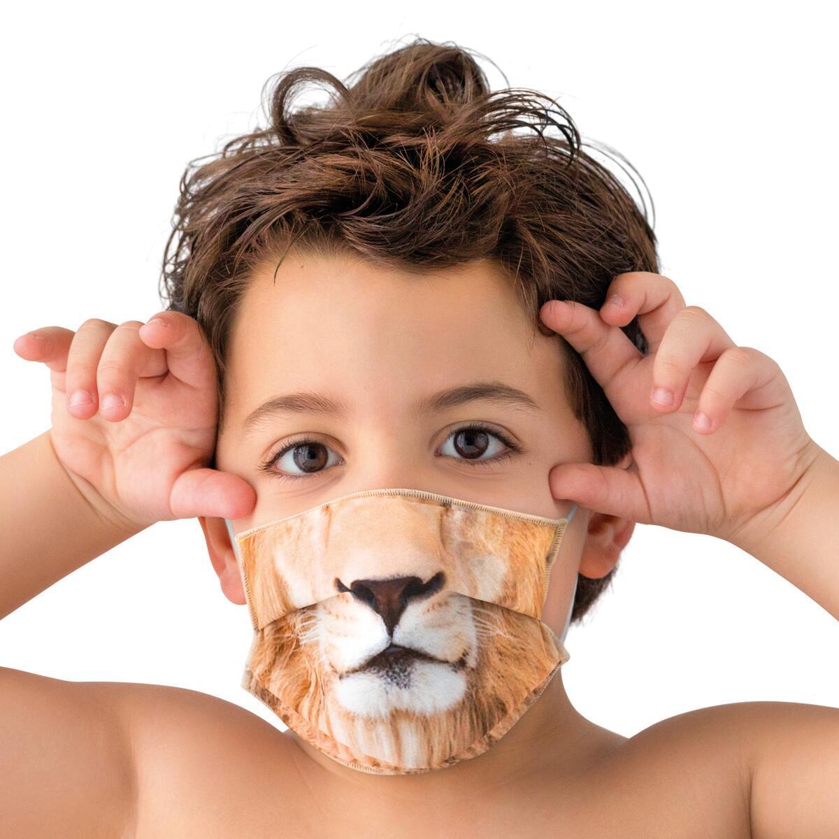 Maschera in tessuto lavabile per utilizzo non sanitario Baby leone - 2