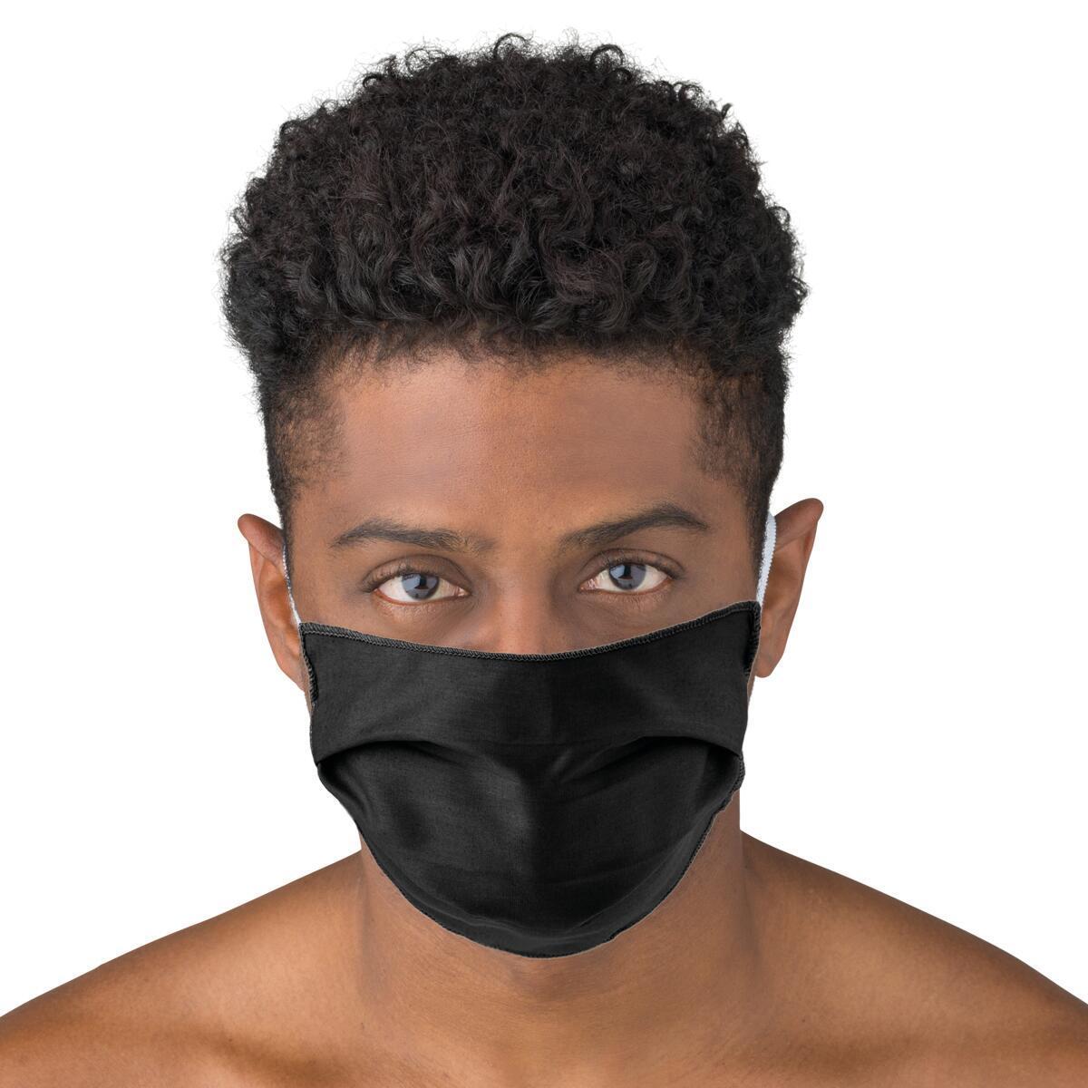 Maschera in tessuto lavabile per utilizzo non sanitario Elegante 2 pezzi - 2