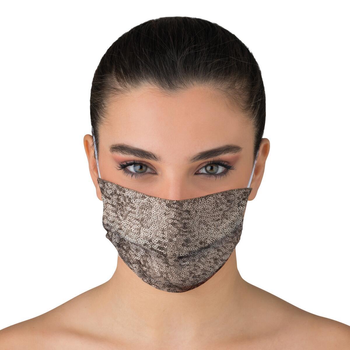Maschera in tessuto lavabile per utilizzo non sanitario Paillettes - 2