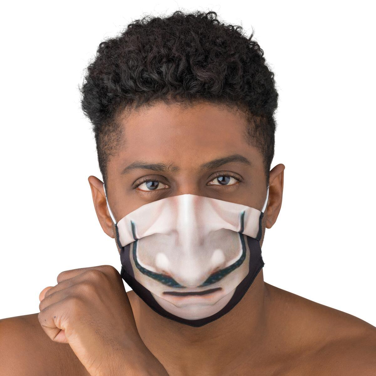 Maschera in tessuto lavabile per utilizzo non sanitario Baffi - 2