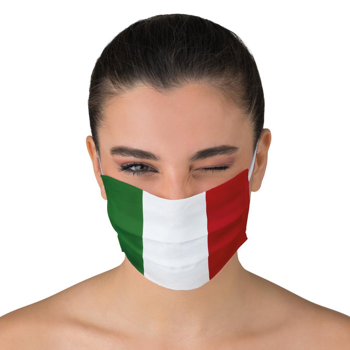 Maschera in tessuto lavabile per utilizzo non sanitario Tricolore - 2