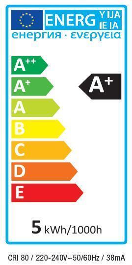 Lampadina LED, E14, Oliva, Smerigliato, Luce calda, 5W=470LM (equiv 40 W), 300° , LEXMAN - 3