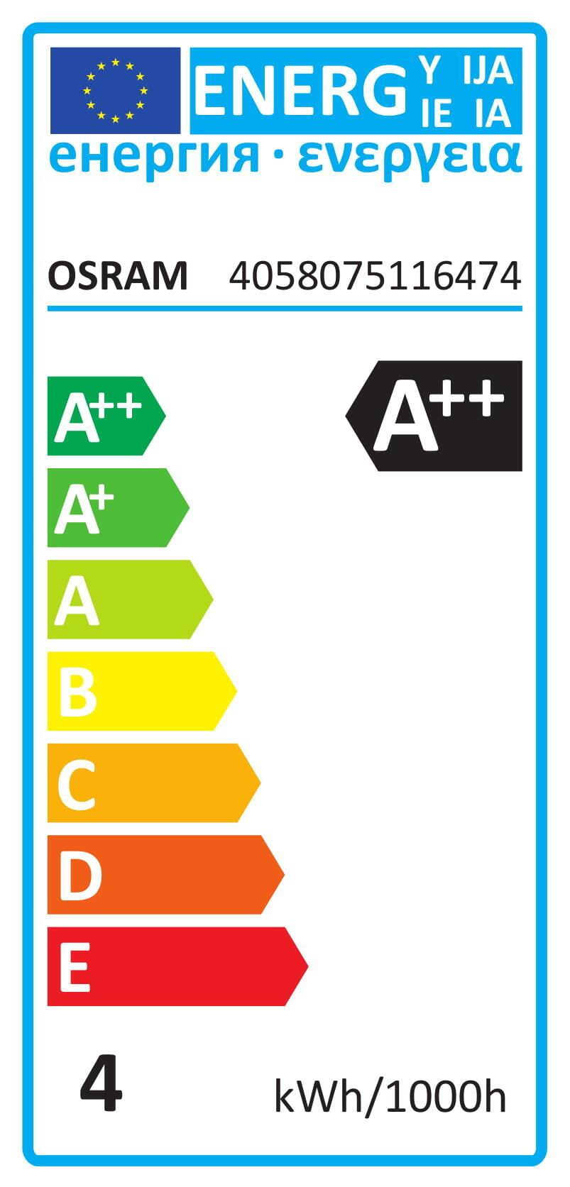 Lampadina LED filamento, E14, Sferico, Opaco, Luce calda, 4W=470LM (equiv 40 W), 300° , OSRAM - 6