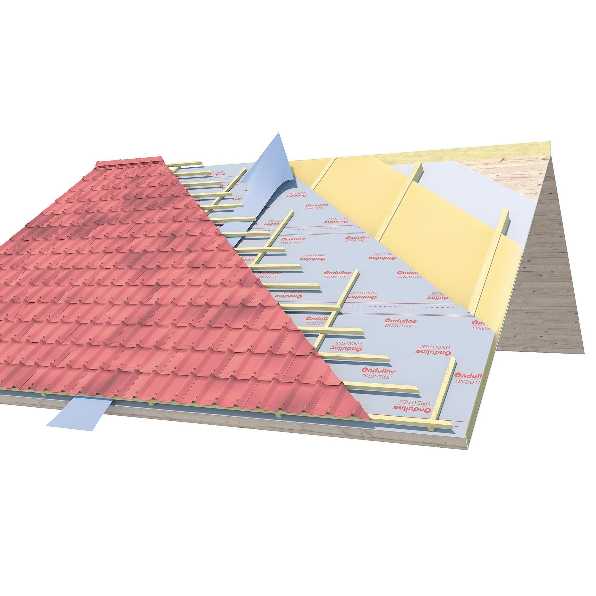 Membrana bituminosa ONDULINE Ondutiss air 170 170 g/m³ 1.5 x 50 m trasparente - 2