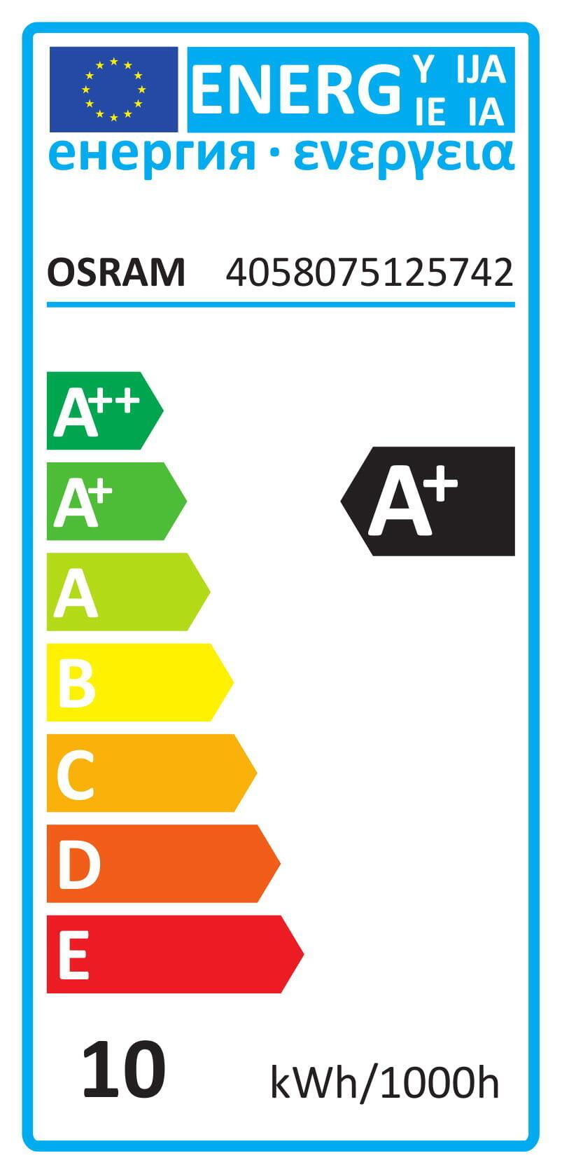Lampadina LED, E14, Bulbo, Opaco, Luce calda, 10W=1050LM (equiv 75 W), 200° , OSRAM - 3