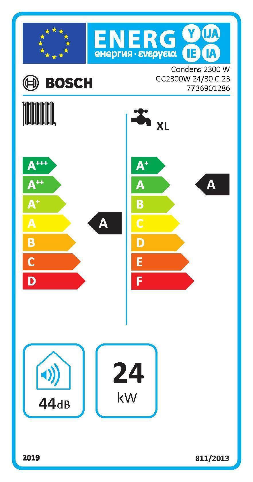 Caldaia a gas Metano a condensazione 24 Kw BOSCH Condens 24/30 Istantanea - 3