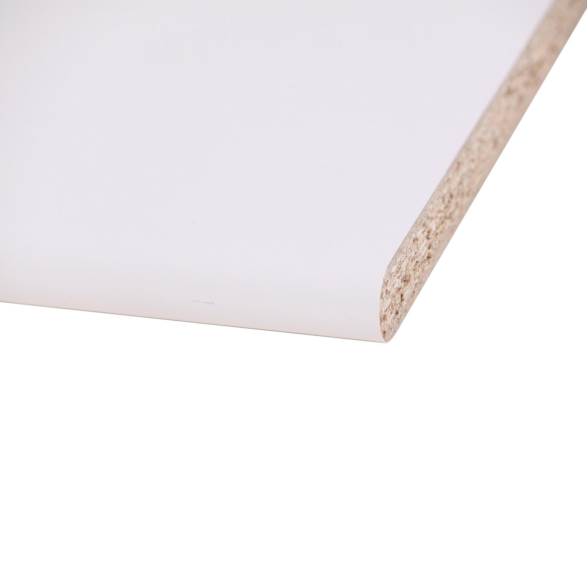Piano di lavoro in legno bianco L 124 x P 60 cm, spessore 2.5 cm - 2