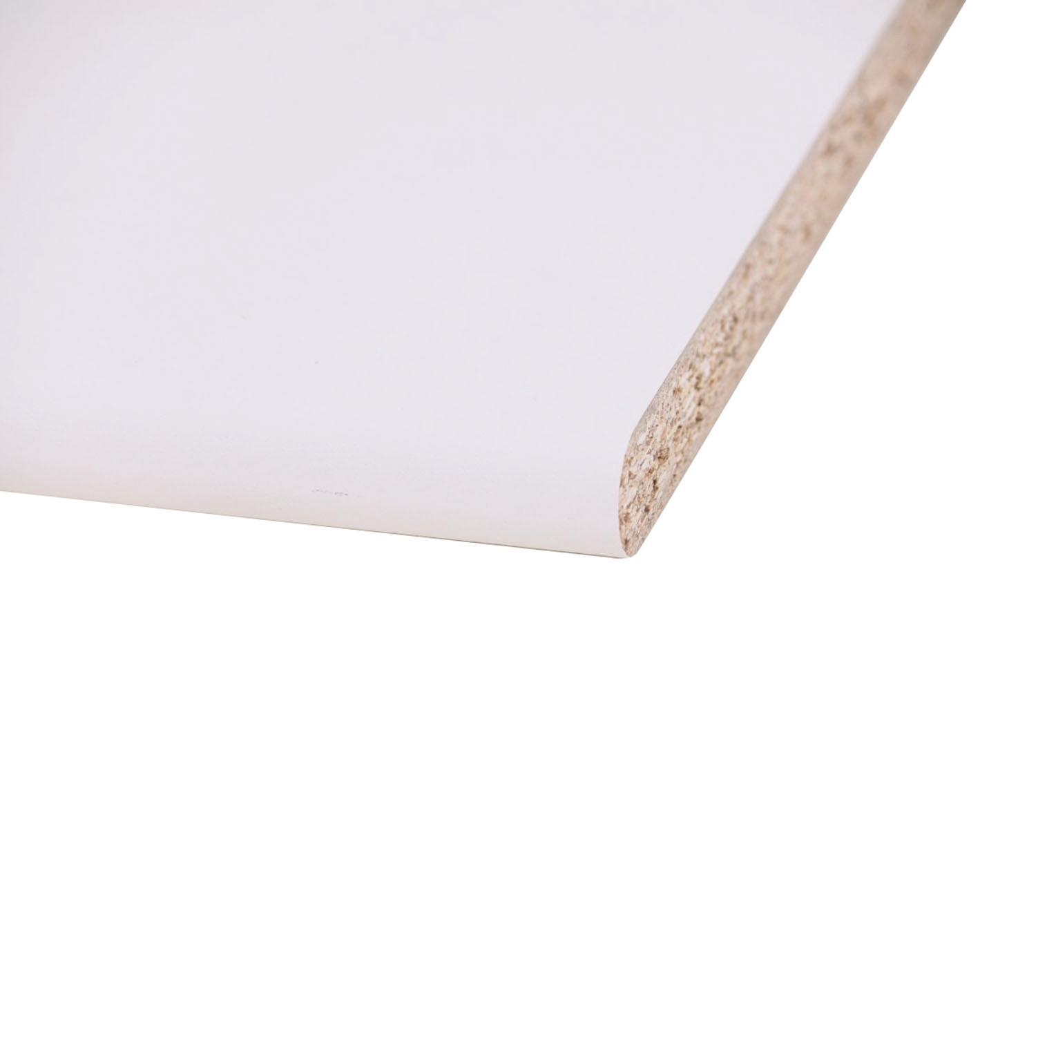 Piano di lavoro in legno bianco L 124 x P 60 cm, spessore 2.5 cm - 1