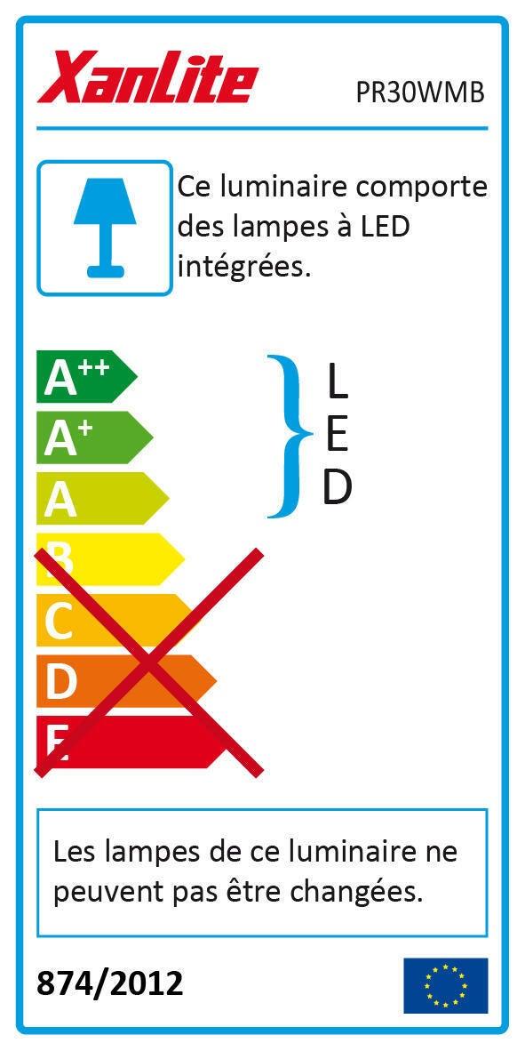 Proiettore LED integrato A in alluminio, bianco, 30W 2400LM IP65 XANLITE - 4