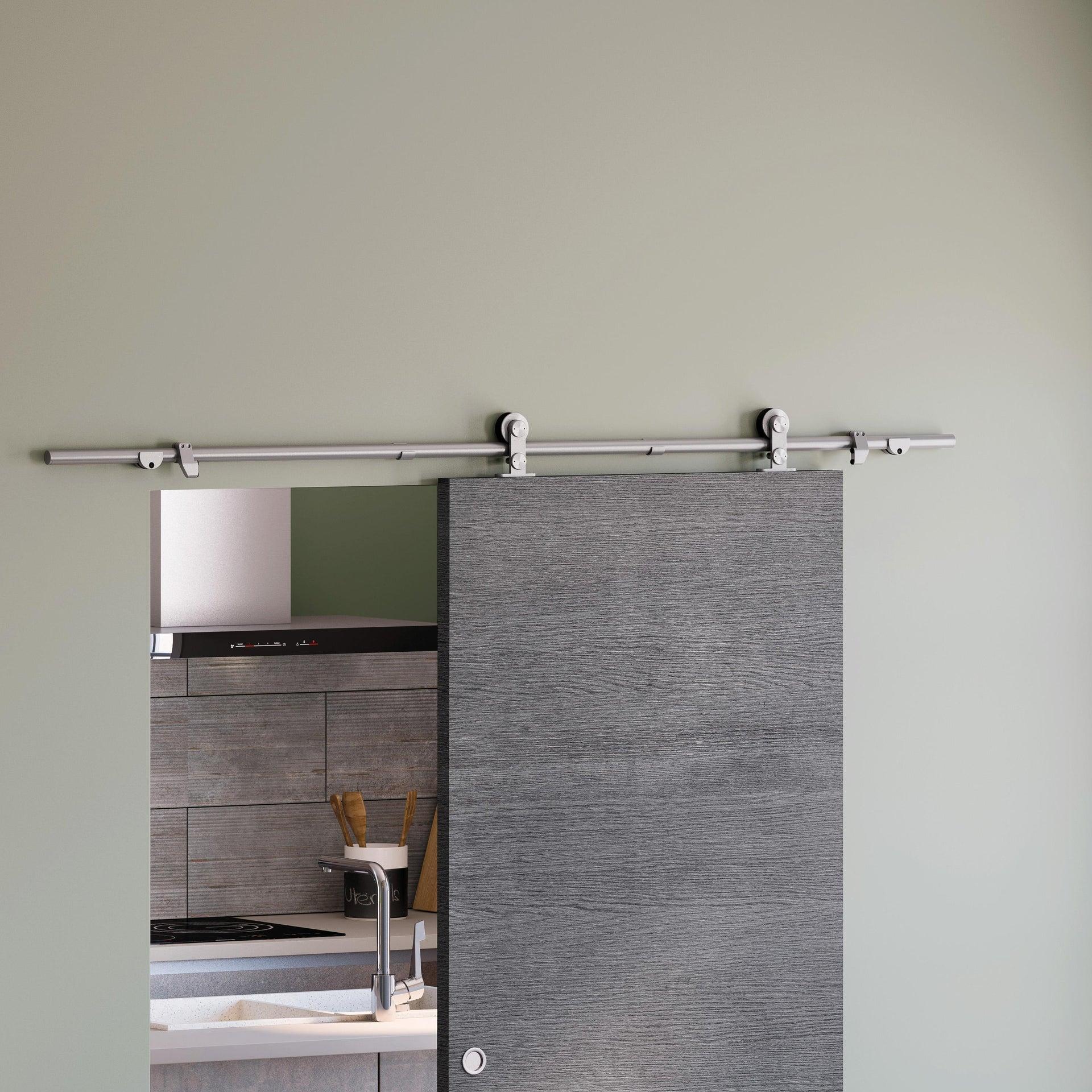 Binario per porta scorrevole Toledo grigio L 1.8 m - 4