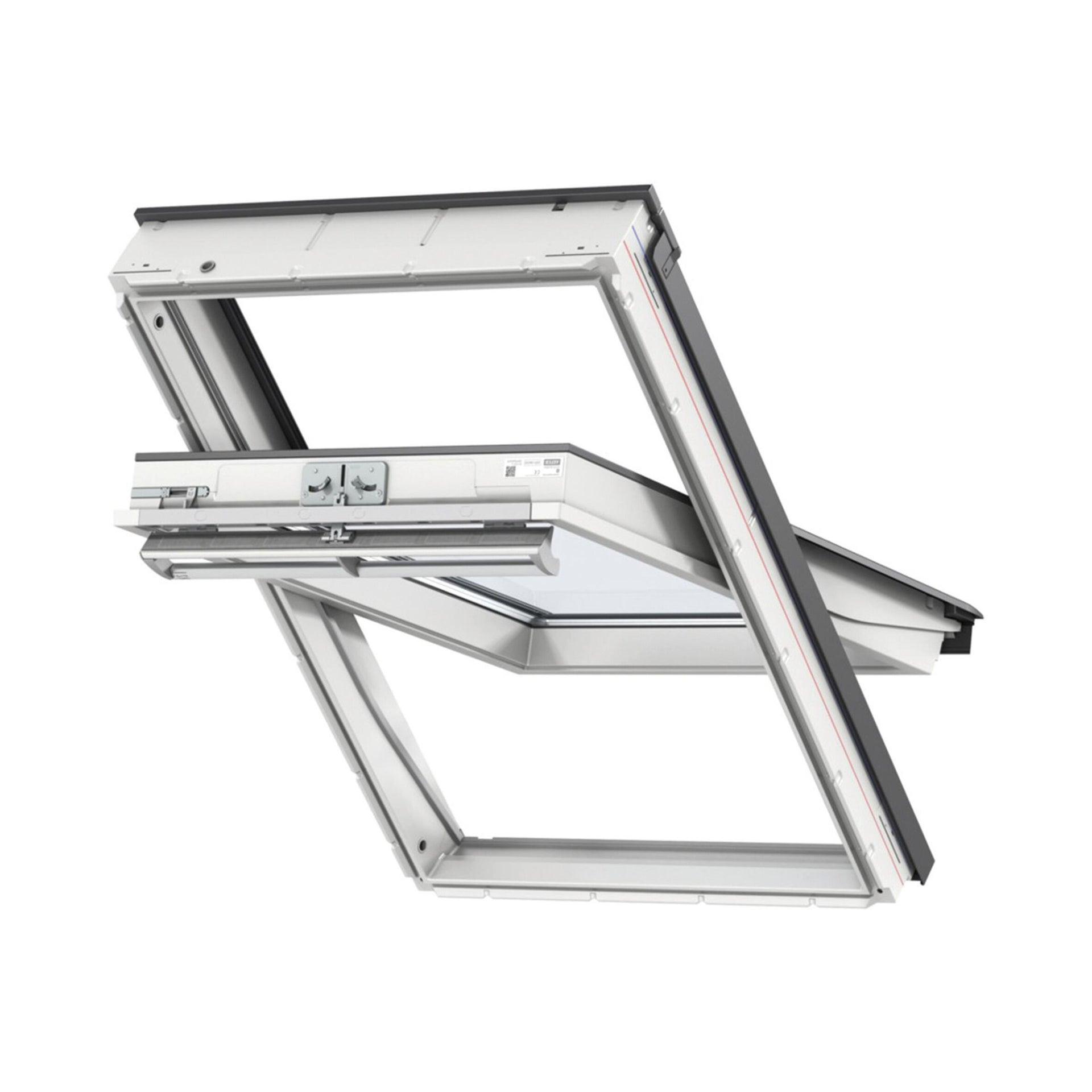 Finestra da tetto (faccia inclinata) VELUX GGU FK08 0070 manuale L 66 x H 140 cm bianco - 1