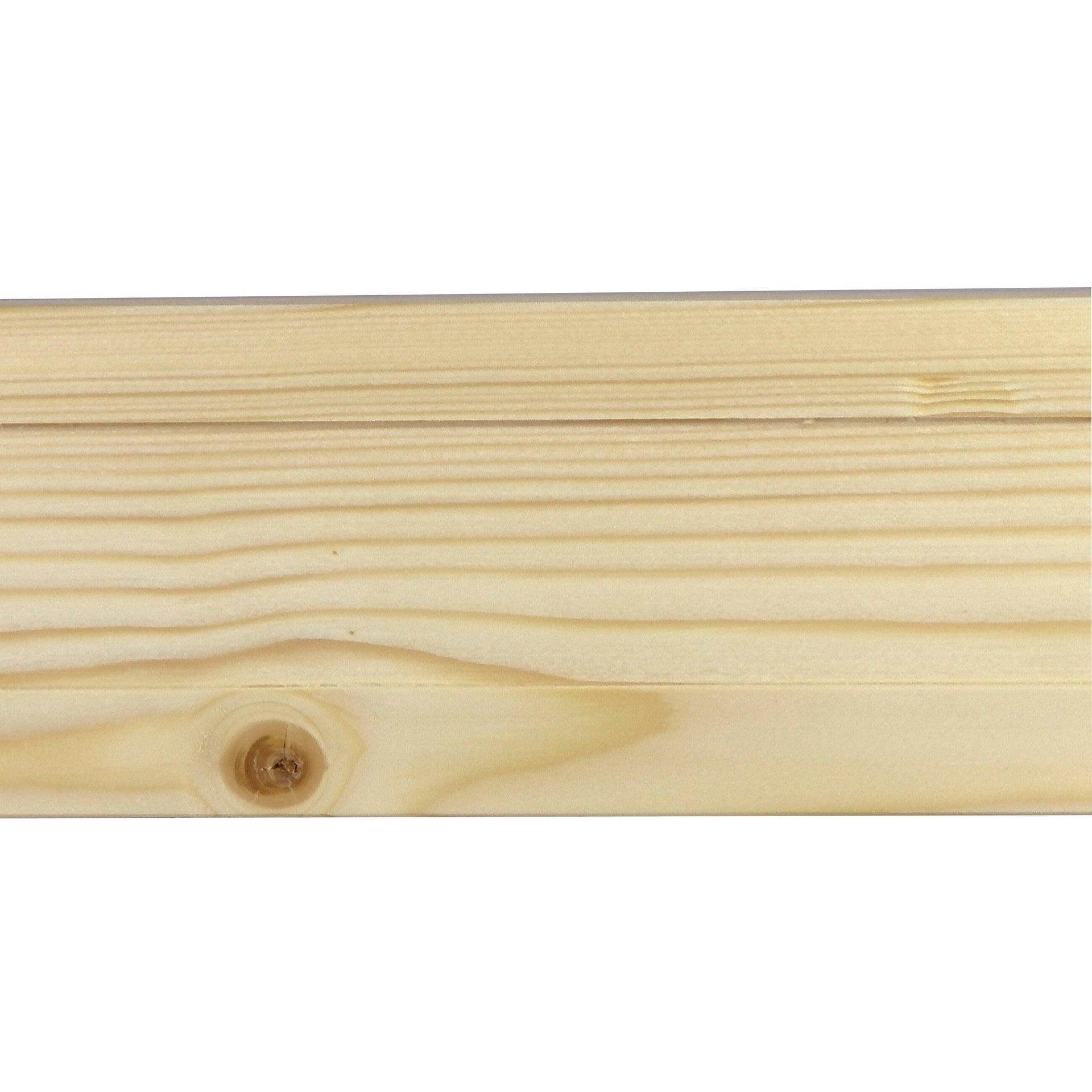 Coprifilo in legno legno massello naturale L 2250 x P 10 x H 70 mm - 1
