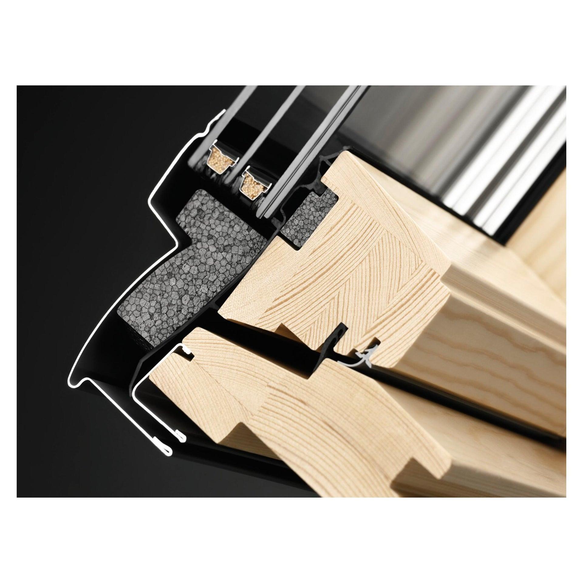 Finestra da tetto (faccia inclinata) VELUX GGL PK25 3070 manuale L 94 x H 55 cm pino - 3