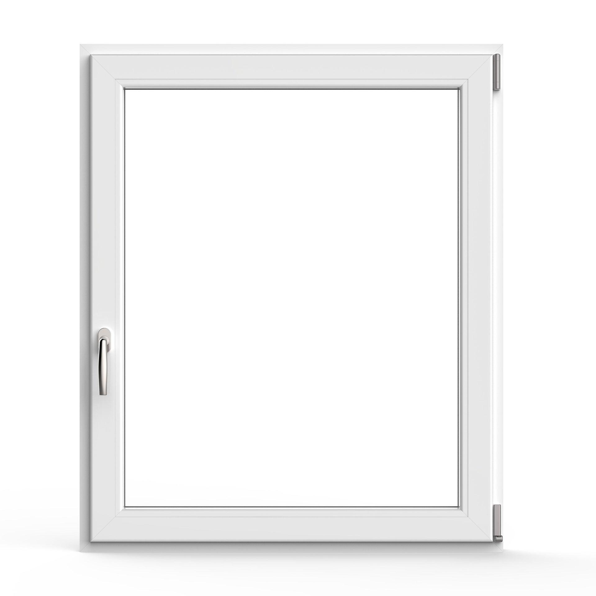 Finestra in pvc bianco L 100 x H 120 cm, 1 anta oscillo-battente apertura destra - 1