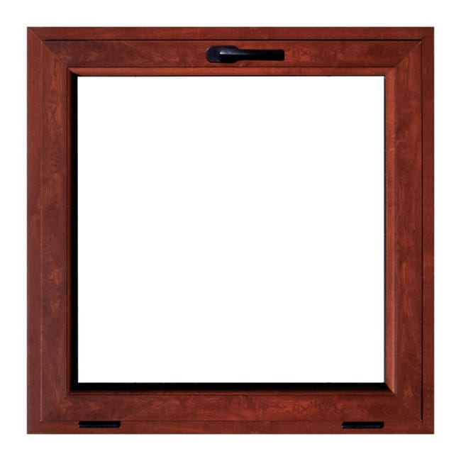 Finestra in pvc noce L 50 x H 50 cm, 1 anta vasistas apertura superiore - 1