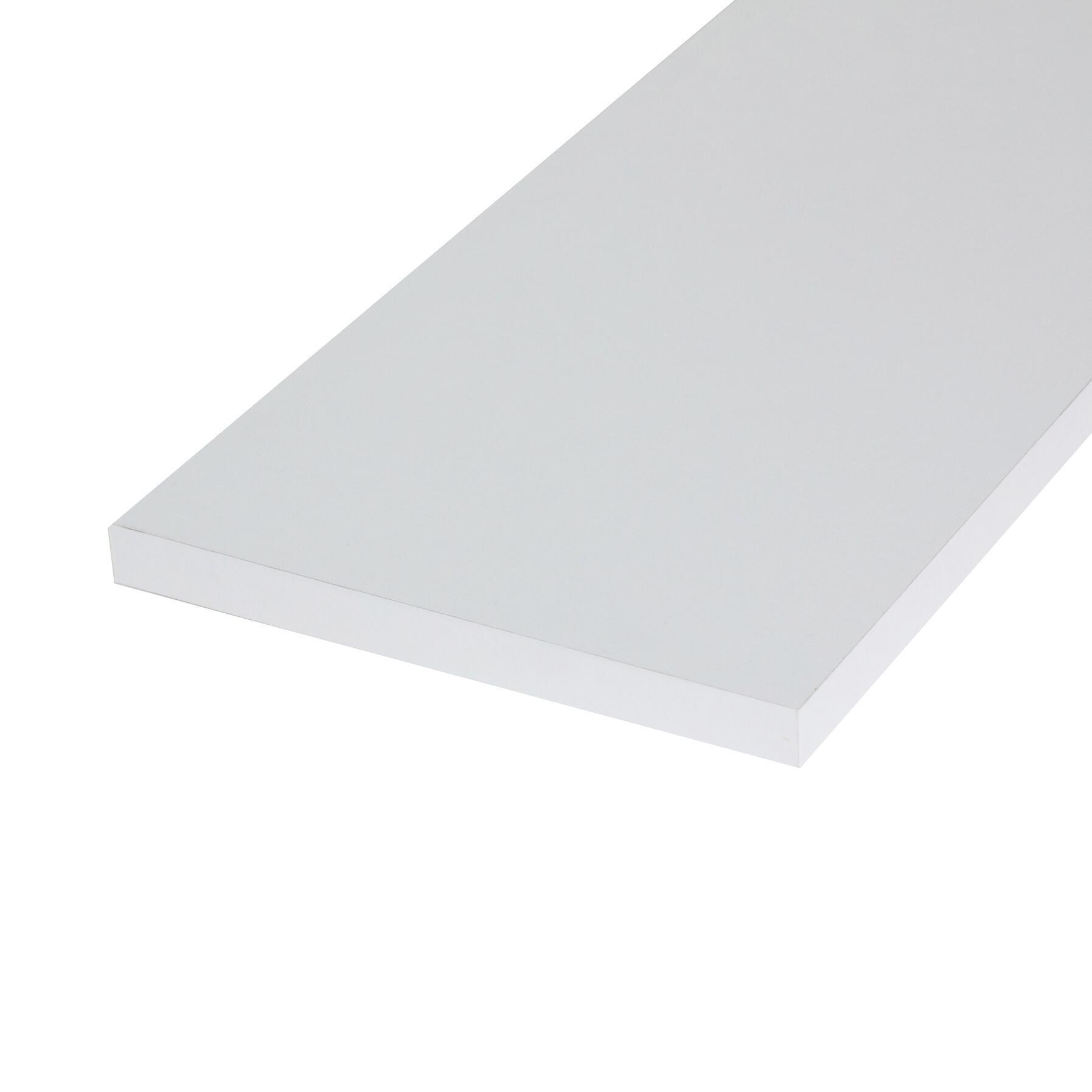 Ripiano melaminico ARTENS 120 x 20 cm Sp 18 mm bianco