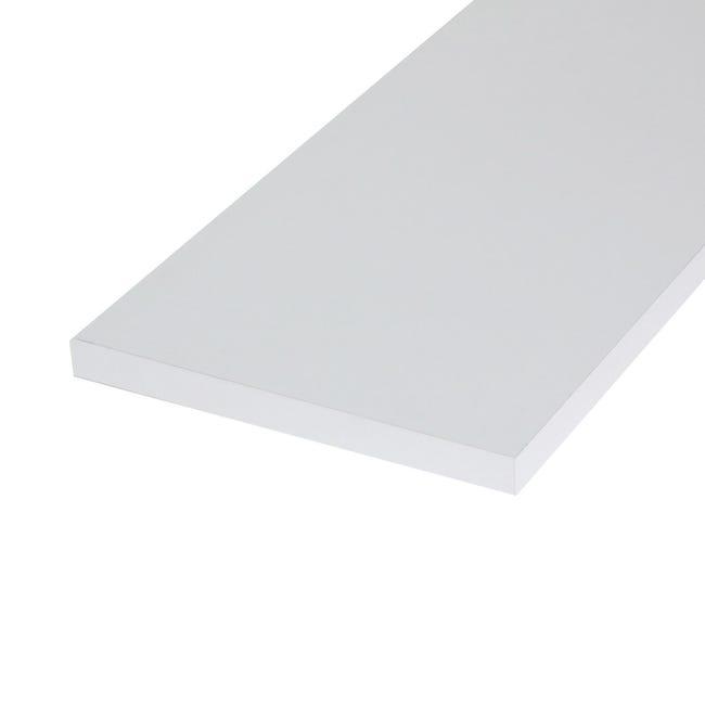 Ripiano melaminico ARTENS 120 x 20 cm Sp 18 mm bianco - 1