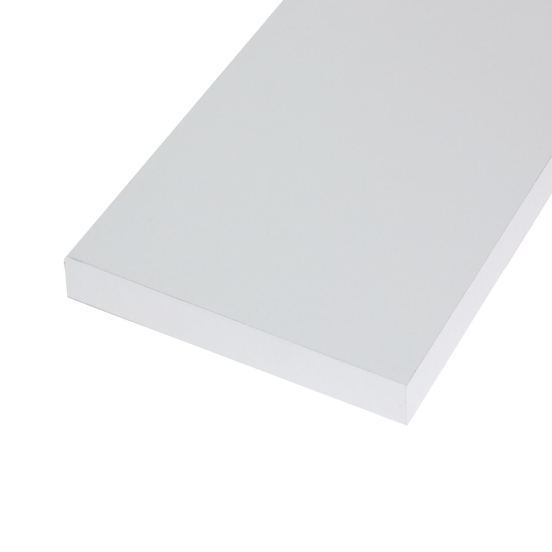 Ripiano melaminico ARTENS 138 x 80 cm Sp 25 mm bianco
